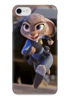 """Чехол для iPhone 7 глянцевый """"Зверополис Заяц"""" - мультик, дисней, заяц, зверополис"""