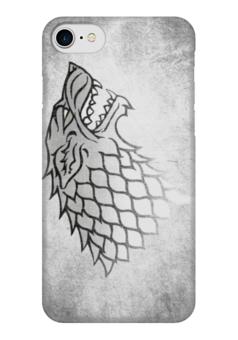 "Чехол для iPhone 7 глянцевый ""Старки (Starks)"" - волк, wolf, игра престолов, старки, game of thrones"