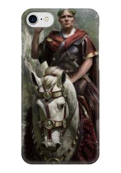 """Чехол для iPhone 7 глянцевый """"SPQR: Сенат и граждане Рима"""" - история, рим, цезарь, путь воина, гесс"""