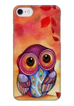"Чехол для iPhone 7 глянцевый ""Совушка"" - осень, сова, совушка, owl"