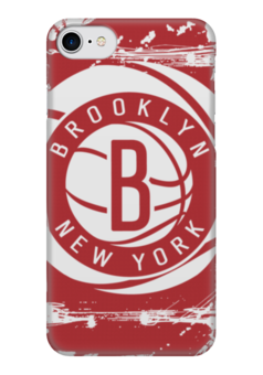 "Чехол для iPhone 7 глянцевый ""Brooklyn Nets"" - баскетбол, нба, бруклин нетс, brooklyn nets"