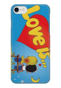 """Чехол для iPhone 7 глянцевый """"любовь"""" - любовь, love is, любовь это"""