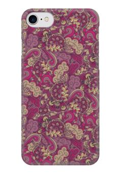 """Чехол для iPhone 7 глянцевый """"Розовый дудл узор"""" - арт, узор, орнамент, абстракция, дудл"""