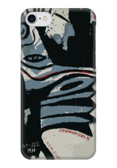 """Чехол для iPhone 7 глянцевый """"Modern Red Blue & Black"""" - арт, абстракция, abstract, dark"""