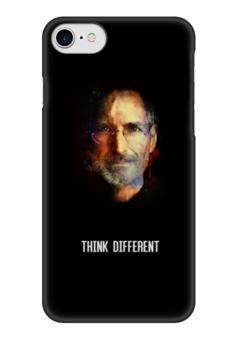 """Чехол для iPhone 7 глянцевый """"Think Different"""" - steve jobs, стив джобс, think different"""