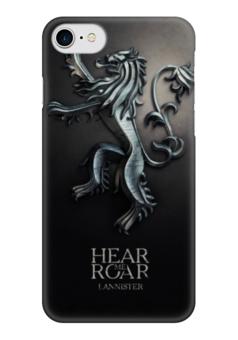 "Чехол для iPhone 7 глянцевый ""Игра Престолов (Game of Thrones)"" - герб, игра престолов, ланнистеры"