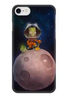 """Чехол для iPhone 7 глянцевый """"Kerbal space program"""" - арт, kerbal space program, космос, космонавт, планета"""