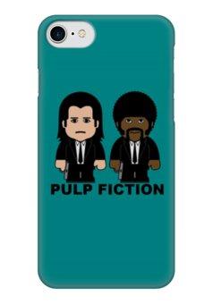 """Чехол для iPhone 7 глянцевый """"Pulp Fiction"""" - культовое кино, тарантино, джон траволта, сэмюэл лерой джексон, крими"""