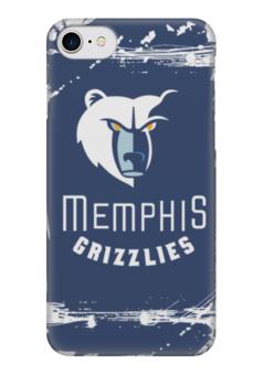"Чехол для iPhone 7 глянцевый ""Memphis Grizzlies"" - баскетбол, нба, memphis grizzlies, мемфис гриззлис"