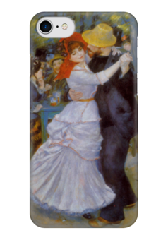 "Чехол для iPhone 7 глянцевый ""Ренуар"" - любовь, арт, стиль, рисунок"