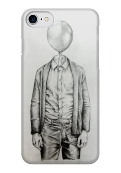 "Чехол для iPhone 7 глянцевый ""Mr.Baloon"" - арт, рисунок, шарик, карандаш, сюр"