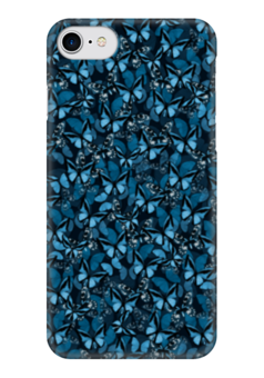 "Чехол для iPhone 7 глянцевый ""Papilionidae"" - бабочки, природа, текстура, фон"