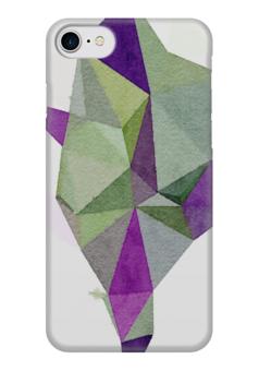 """Чехол для iPhone 7 глянцевый """"Артишок"""" - белый, фиолетовый, зеленый"""