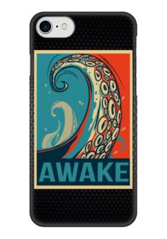 "Чехол для iPhone 7 глянцевый ""Осьминог (Awake)"" - octopus, осьминог, obey, awake"