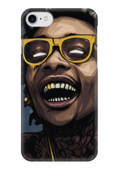 "Чехол для iPhone 7 глянцевый ""Wiz Khalifa"" - wizkhalifa, digitalart, star, popart, rap"