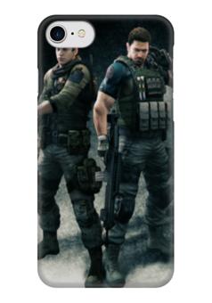 """Чехол для iPhone 7 глянцевый """"Resident Evil"""" - игра, обитель зла, resident evil, umbrella, re"""
