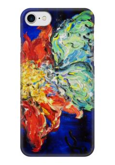 """Чехол для iPhone 7 глянцевый """"Нектар"""" - бабочка, flower, весна, butterfly, цветочки"""