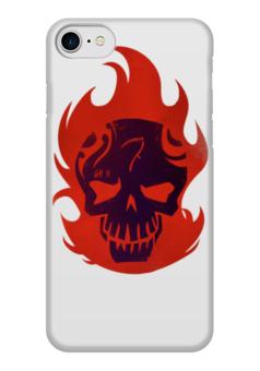 """Чехол для iPhone 7 глянцевый """"Отряд самоубийц / Suicide Squad"""" - комиксы, кино, харли квин, отряд самоубийц, злодеи"""