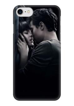"""Чехол для iPhone 7 глянцевый """"50 оттенков серого"""" - 50 оттенков серого, 50 shades og grey"""