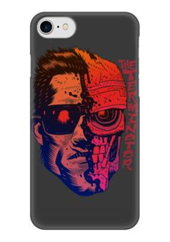 "Чехол для iPhone 7 глянцевый ""Terminator"" - кино, arnold schwarzenegger, терминатор, terminator, арнольд шварцнегер"