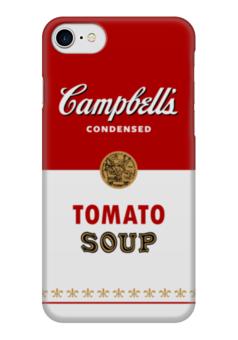 """Чехол для iPhone 7 глянцевый """"Суп Кэмпбелл"""" - арт, поп арт, энди уорхол, суп кэмпбелл, campbells soup can"""