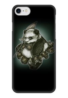 """Чехол для iPhone 7 глянцевый """"Panda Girl"""" - животные, bear, медведь, панда, panda"""