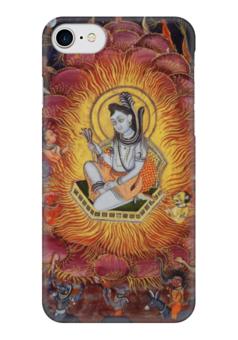 """Чехол для iPhone 7 глянцевый """"Шива (Амардас Бхатти)"""" - картина, раджпутская живопись"""