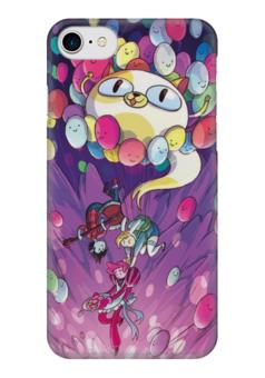 "Чехол для iPhone 7 глянцевый ""Adventure Time Fun Art"" - adventure time, время приключений, марселин, бубль гум"