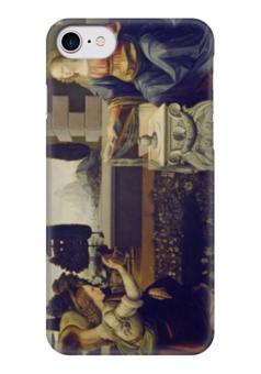"Чехол для iPhone 7 глянцевый ""Благовещение (картина Леонардо да Винчи)"" - картина, да винчи"