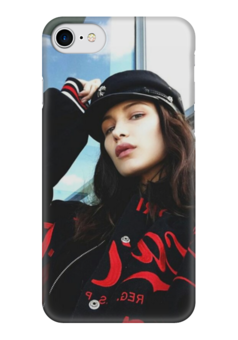 "Чехол для iPhone 7 глянцевый ""Bella Hadid"" - белла, bella hadid, hadid, бэлла, белла хадид"