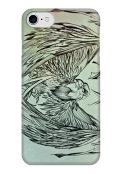 "Чехол для iPhone 7 глянцевый ""Сокол"" - птица, рисунок, сокол"