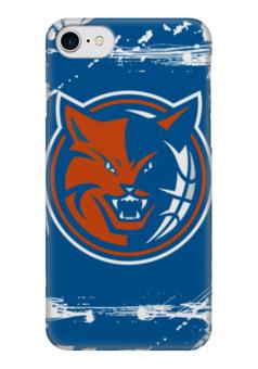 """Чехол для iPhone 7 глянцевый """"Charlotte Bobcats"""" - баскетбол, шарлотт бобкэтс, шарлотт хорнетс, charlotte bobcats"""