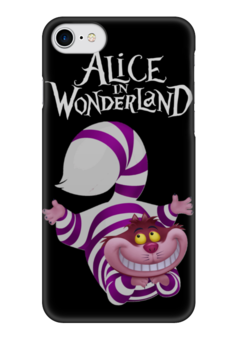 "Чехол для iPhone 7 глянцевый ""Alice in Wonderland"" - кот, cat, алиса, алиса в стране чудес, alice in wonderland"