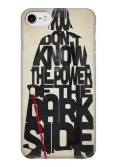 """Чехол для iPhone 7 глянцевый """"дарт вейдер"""" - star wars, darth vader, звездные войны, дарт, дарт вейдер"""
