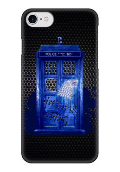 "Чехол для iPhone 7 глянцевый ""Tardis x Starks"" - doctor who, доктор кто, игра престолов, старки, тардис"
