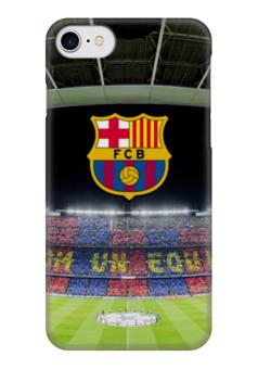 "Чехол для iPhone 7 глянцевый ""Барселона"" - barcelona, messi, месси, испания, футбол"