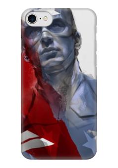 "Чехол для iPhone 7 глянцевый ""Капитан Америка"" - комиксы, кэп, марвел, captain america, стив роджерс"