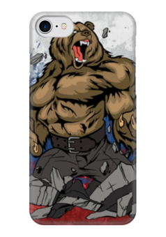 "Чехол для iPhone 7 глянцевый ""Русский Медведь (Russian Bear)"" - bear, россия"