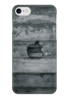 "Чехол для iPhone 7 глянцевый ""Apple "" - дерево, яблоко, эпл, стив джобс, wood"