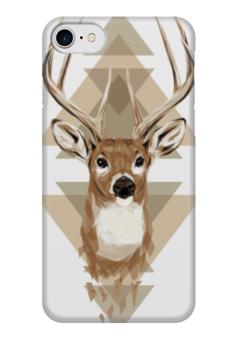 """Чехол для iPhone 7 глянцевый """"Олень"""" - иллюстрация, олень, рога, deer"""