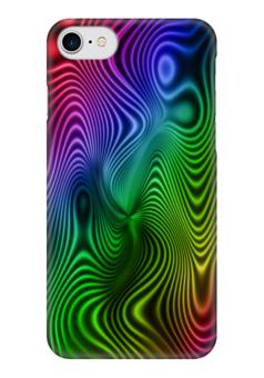"""Чехол для iPhone 7 глянцевый """"Абстракция"""" - радуга, узоры, разводы, абстракция, арт дизайн"""