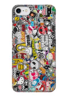 "Чехол для iPhone 7 глянцевый ""Стикеры, наклейки"" - jdm, sticker bombing, стикер-арт, стикеры"