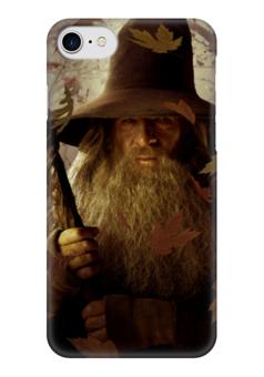 """Чехол для iPhone 7 глянцевый """"Гэндальф"""" - кино, властелин колец, хоббит, hobbit, фродо"""