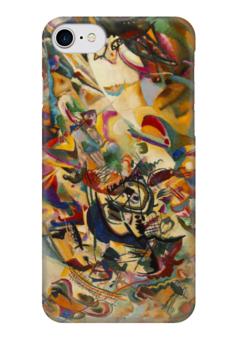 """Чехол для iPhone 7 глянцевый """"Композиция VII  (Василий Кандинский)"""" - картина, кандинский"""