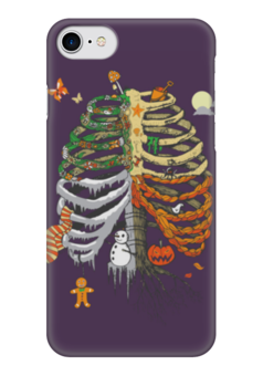 "Чехол для iPhone 7 глянцевый ""Времена года - Halloween"" - праздник мёртвых"