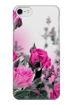 "Чехол для iPhone 7 глянцевый ""Цветы розы"" - розы, природа, roses, цветы розы"