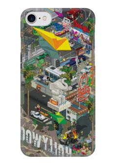 """Чехол для iPhone 7 глянцевый """"ЛОС-АНДЖЕЛЕС"""" - los angeles, la, лос-анджелес"""