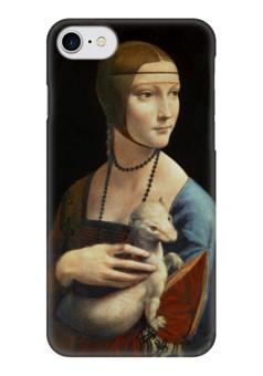 "Чехол для iPhone 7 глянцевый ""Дама с горностаем (Леонардо да Винчи)"" - картина, да винчи"