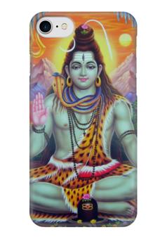 """Чехол для iPhone 7 глянцевый """"Yoga & Music"""" - йога, философия, yoga, божество, образ жизни"""