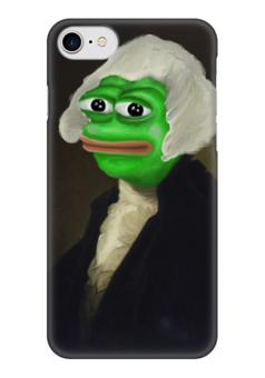 """Чехол для iPhone 7 глянцевый """"Sir Pepe"""" - мем, грустная лягушка, sad frog, pepe frog, pepe the frog"""